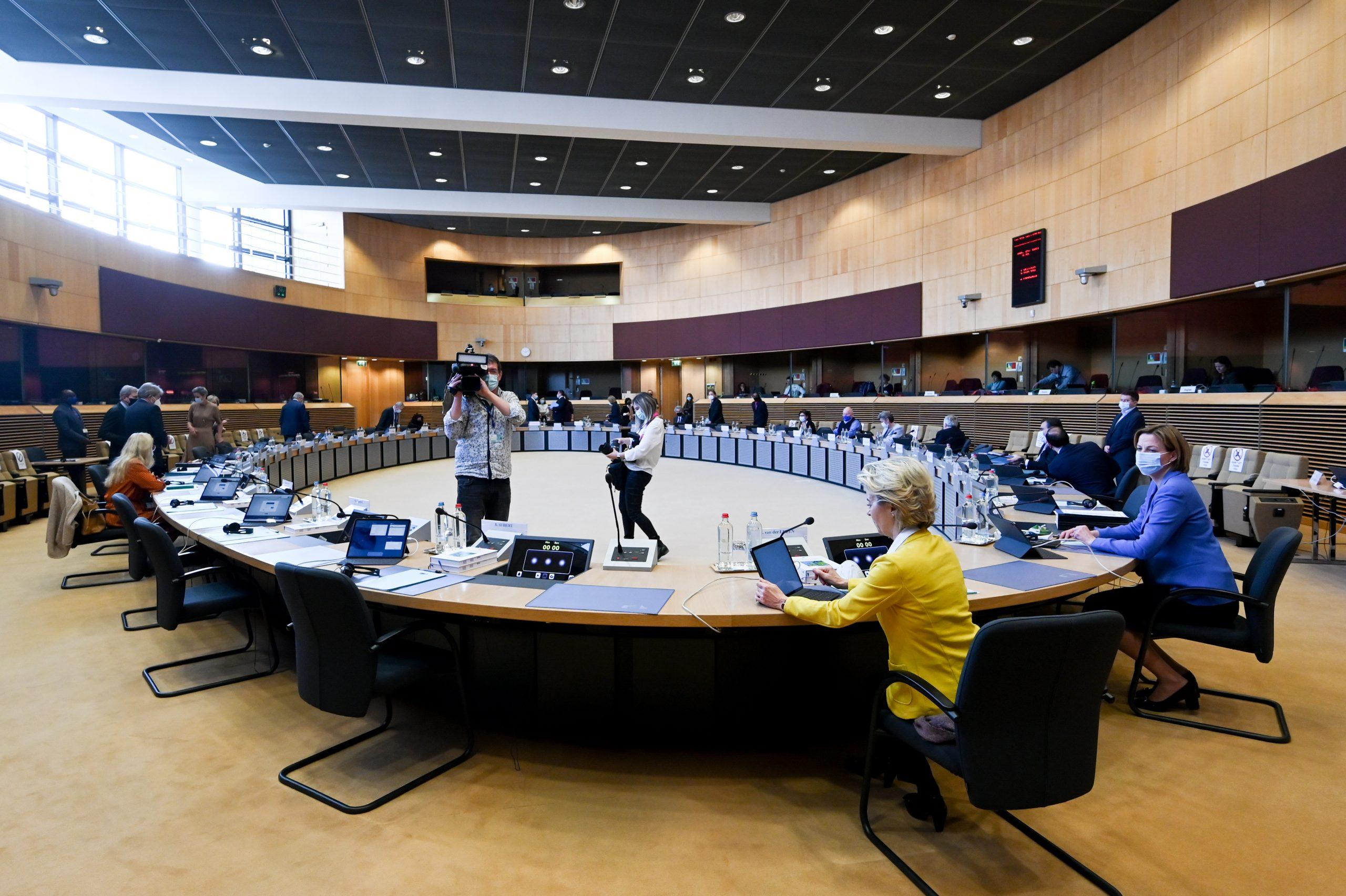 Weekly meeting of the von der Leyen Commission